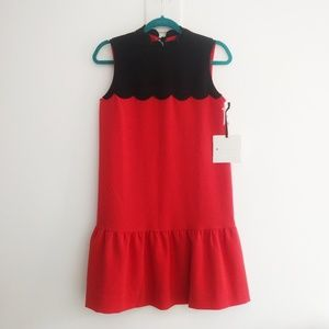 Victoria Beckham x Target drop waist scallop dress